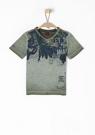 V-Neck-Shirt mit Exotic-Print