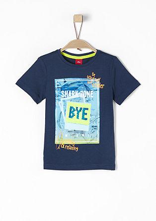 Majica z morskim psom z obojestranskimi bleščicami