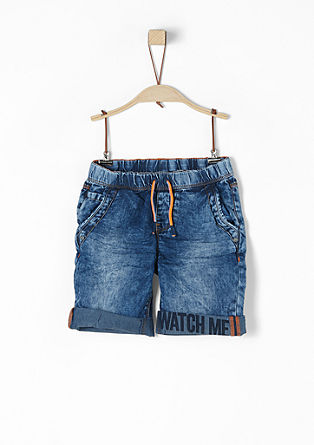 Pelle: denim shorts with a print from s.Oliver