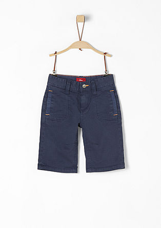 Pelle: Gemusterte Shorts