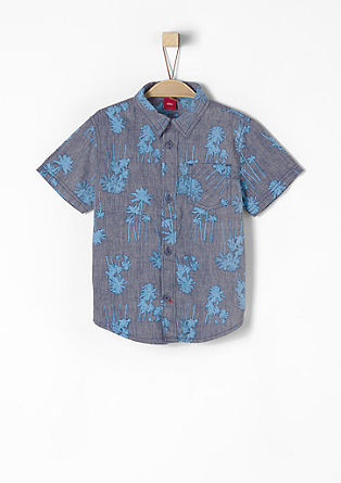 Short sleeve shirt with an all-over print from s.Oliver