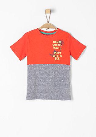 Colourblocking-Shirt mit Surfer