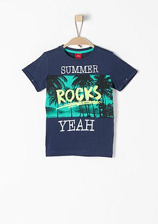 T-Shirt mit Fotoprint und Neon