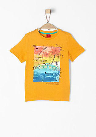 T-Shirt mit Beach-Print