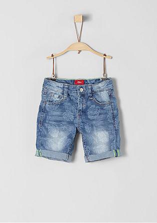 Pelle: Gemusterte Denim-Shorts