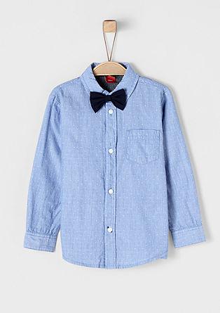 Slim: overhemd met afknoopbare vlinderstrik