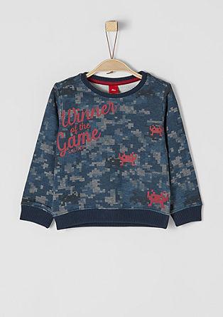 Sweatshirt mit Pixel-Muster