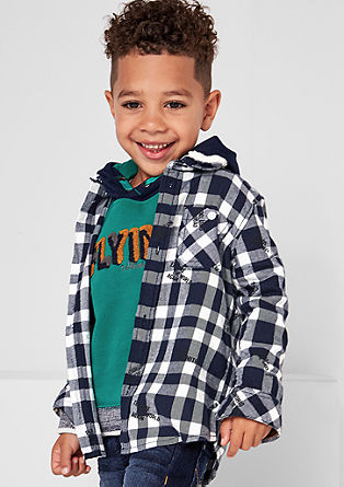Slim: geruit twill overhemd