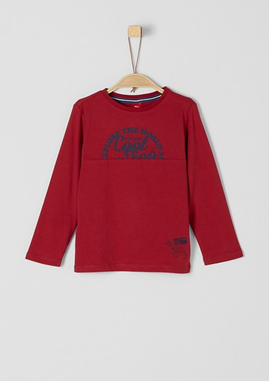 Long sleeve top with rubber-coated lettering from s.Oliver