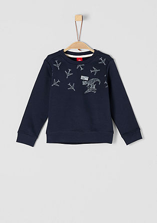 Sweatshirt pulover s potiskom dinozavra