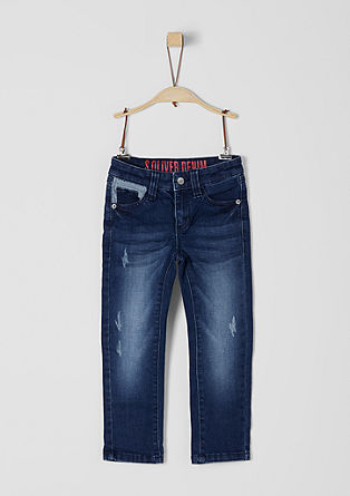 Brad: Stretch jeans with a washed finish from s.Oliver