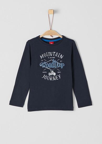 Printshirt mit Stitching