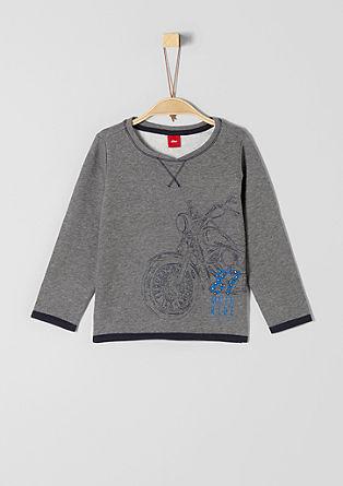 Sweatshirt pulover z rokersko aplikacijo