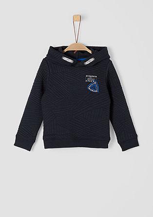 Gestructureerd sweatshirt met een capuchon
