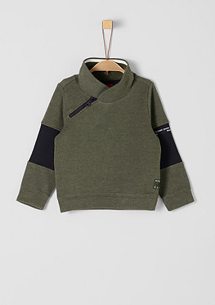 Sweatshirt pulover z vzorčasto teksturo