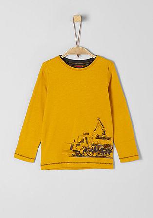 Langarmshirt mit Rubber-Print