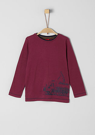 Long sleeve top with a rubber print from s.Oliver