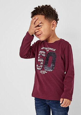 T-shirt à manches longues et paillettes réversibles de s.Oliver