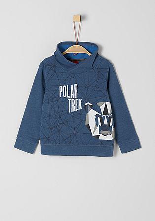 Sweatshirt mit Geometrie-Print
