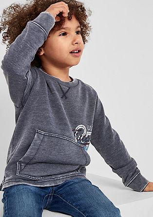 Sweatshirt in een used look