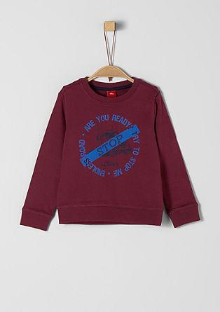 Sweatshirt mit Truck-Print