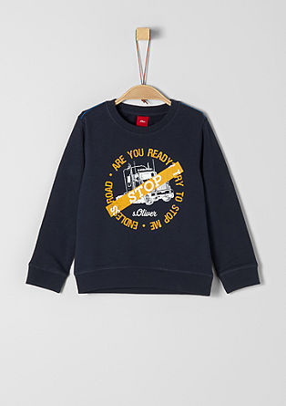 Sweatshirt with a truck print from s.Oliver