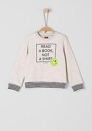 Sweatshirt pulover s potiskom s sloganom