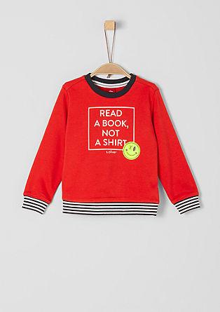 Sweatshirt mit Statement-Print