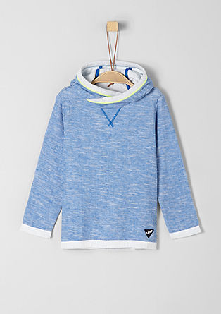 Majica v obojestranski obdelavi s kapuco