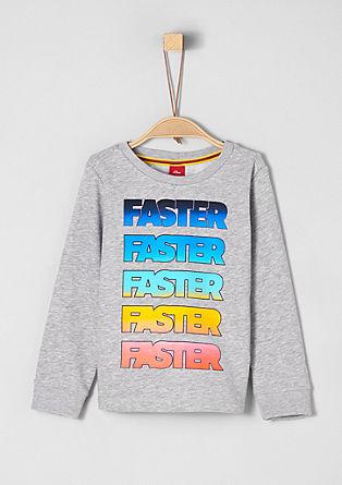 Sweatshirt z mavričnim napisom