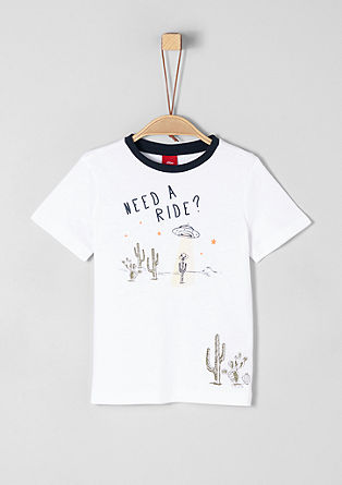 Žerzejové tričko spogumovaným potiskem