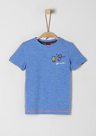 T-shirt en fil flammé agrémenté de patchs de s.Oliver
