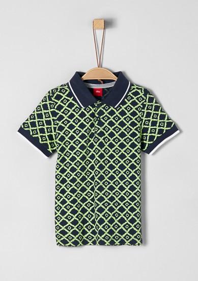 Poloshirt mit Printmuster