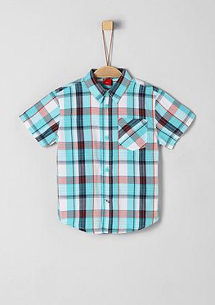 Overhemd met korte mouwen en ruiten