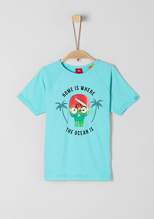 Jersey shirt met artwork in surfer style