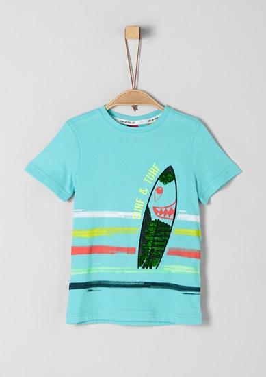 Surfer-Shirt mit Wendepailletten