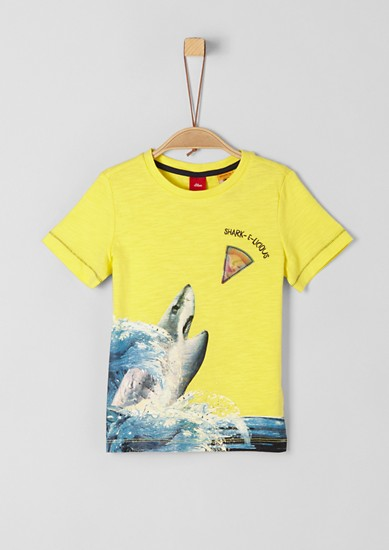 Slub Yarn-Shirt mit Hologramm