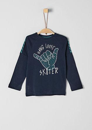 T-shirt à manches longues animé d'un imprimé artistique de s.Oliver