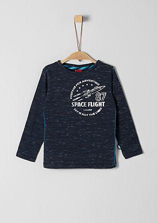 Langarmshirt mit Weltraum-Print