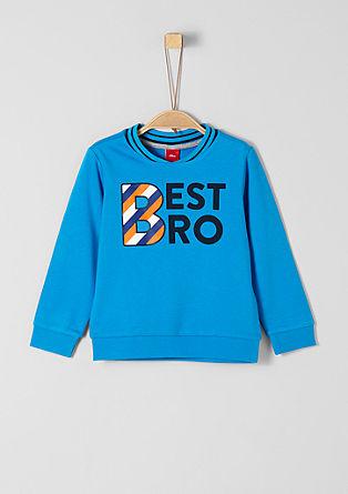 Sweatshirt met tekst