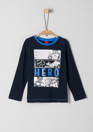 Long sleeve top with a comic print from s.Oliver