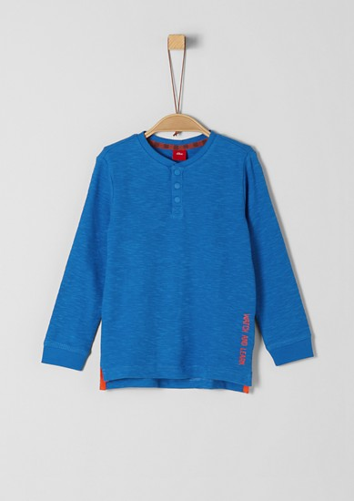 Long sleeve T-shirt with woven texture from s.Oliver