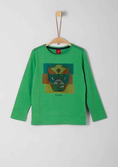 Langarmshirt mit 3D-Dots-Print