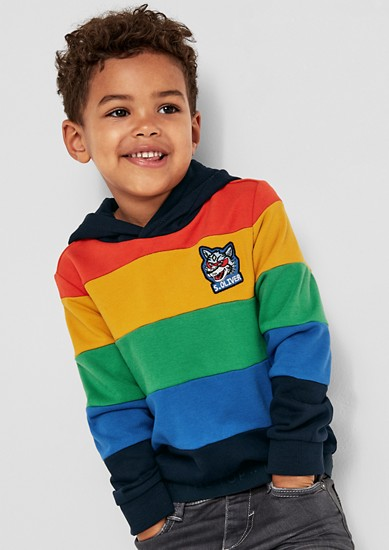 Sweatshirt in rainbow colours from s.Oliver