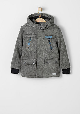Sweatjacke in Strick-Optik