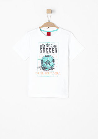 T-shirt with a football print from s.Oliver
