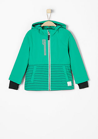 Striped softshell jacket from s.Oliver