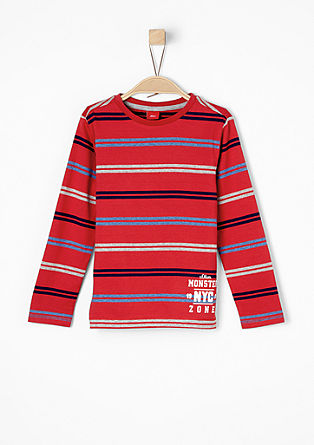 Long sleeve top with retro stripes from s.Oliver