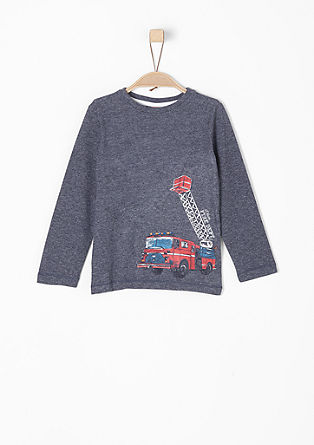 Long sleeve top with a fire brigade print from s.Oliver