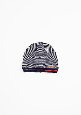 Knit hat with a colour accent from s.Oliver